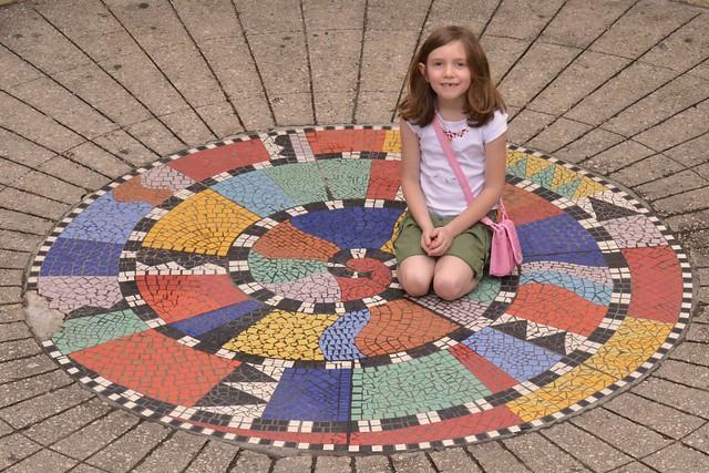 Caitlin on the Mosaic Tile