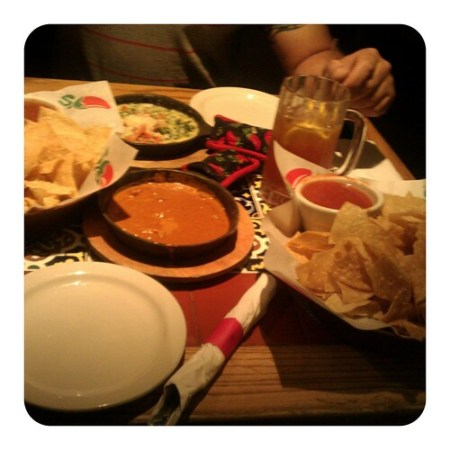 Free chips, salsa & queso! Hehe