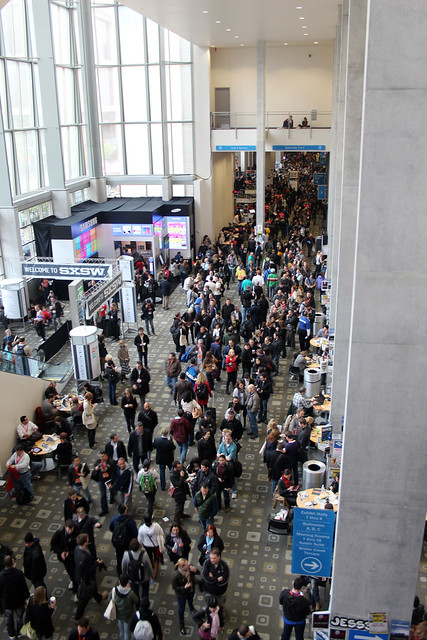 The registration line at SXSW 2012