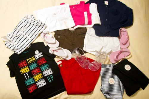a bounty from Old Navy