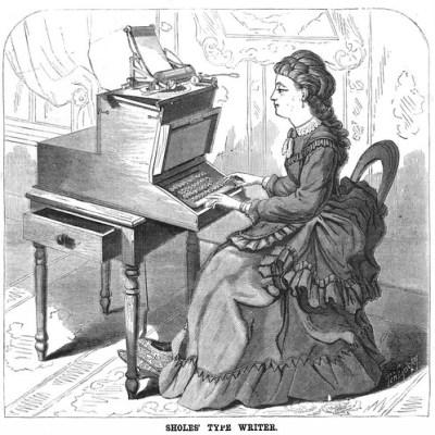 Sholes' Type Writer. (1872)