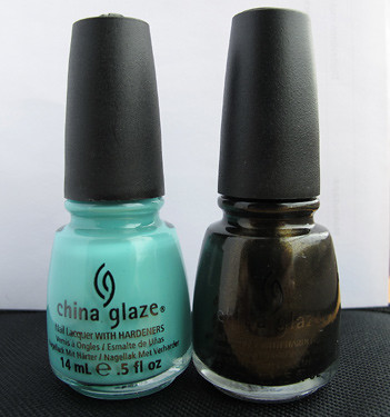 China Glaze Aquadelic & Wagon Trail