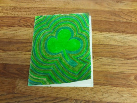 Shamrock Saint Patrick's Day Card