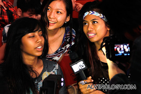 MTV Asia interviewing some of the fans