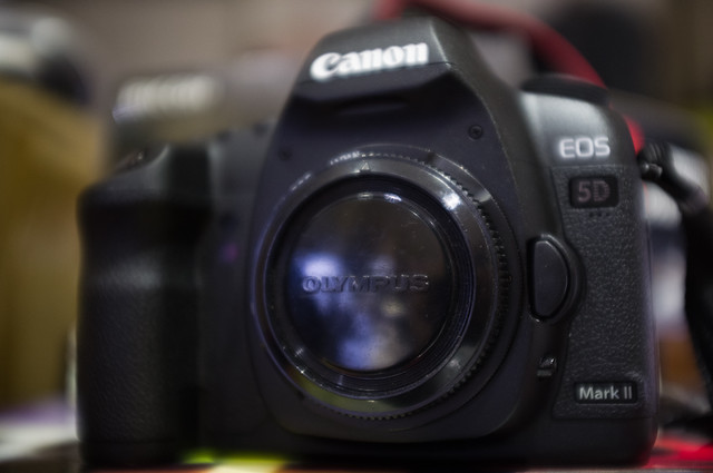 Canon 5D2 + OM-EF adaptor