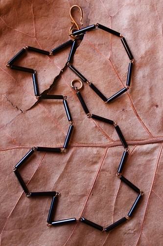 black glass tubes & copper by denise carbonell