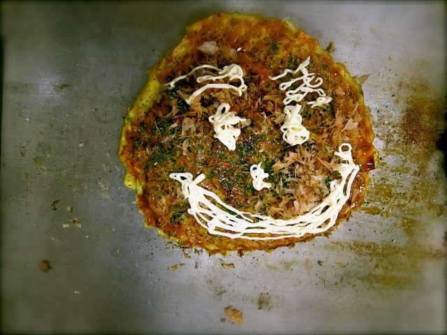 Made our own Okonomiyaki a.k.a. Japanese pizza!