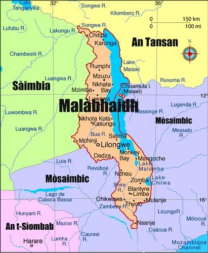 Mapa: Malàbhaidh agus taobh deas Afraga