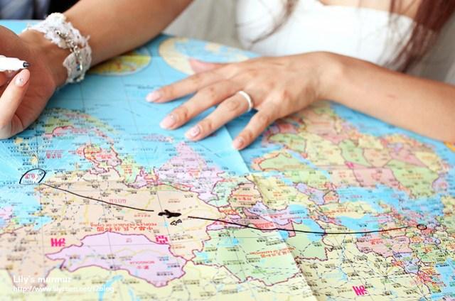 這是我們在地圖上的距離,然而我們克服了,現在手緊緊牽在一起。