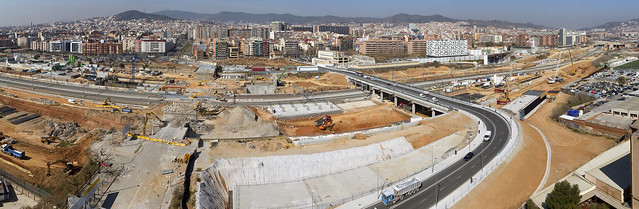 Panorámica de los dos puentes del trabajo - 13-03-12