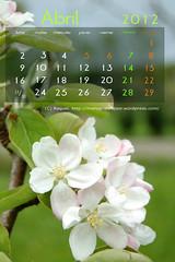 Calendario abril 2012