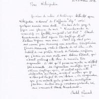 Michel Rocard écrit à Wikipedia à propos de Claude Neuschwander !