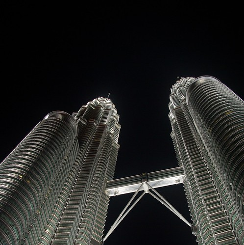 Twin Tower at new year eve