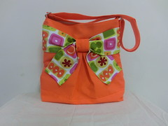 Pretty bow bag in fresh orange