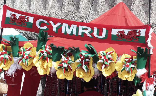 Fans in Cardiff for Wales v France