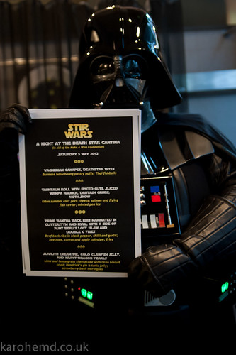 Darth Vader approves of the menu