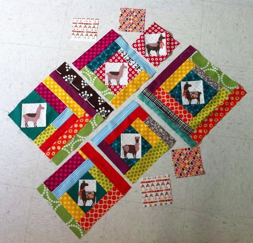 Llama quilt blocks