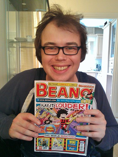 Me with my adult baby haircut - Beano reader style