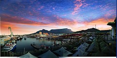 Sundowner at the V&A Waterfront in Cape Town