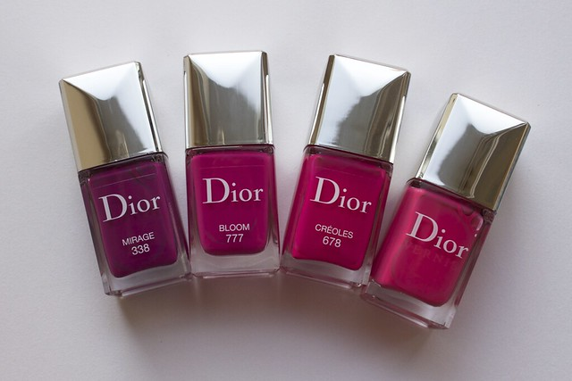 27 Dior 338 Mirage comparison swatches