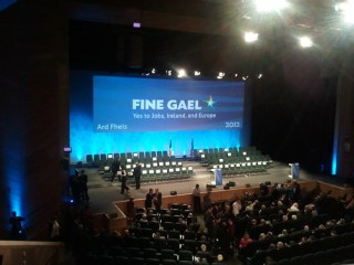 View from my seat for Enda's Speech