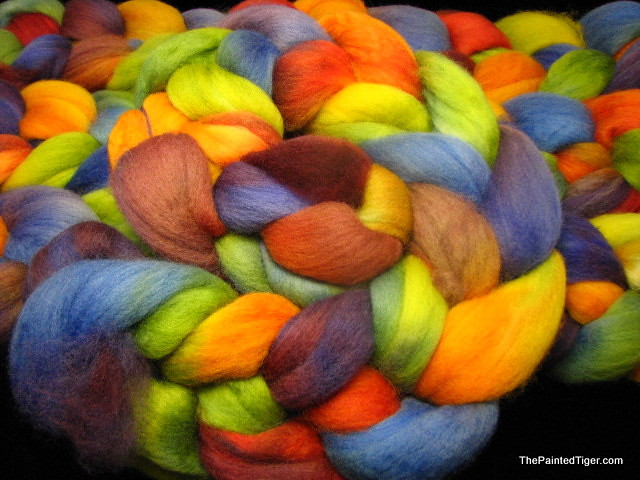 Harvest Rainbow - Hand Dyed Corriedale Combed Top