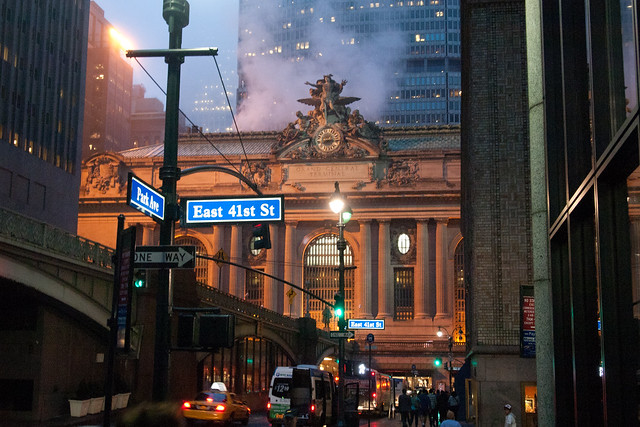 Looking north on Park Avenue toward Grand Central Station. Photo by Ellen Brenna Dougherty