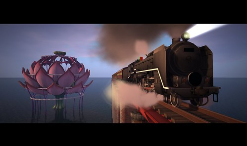 The Lotus Stage and the Train, created by Donpatchy Dagostino, photographed by KT Syakumi
