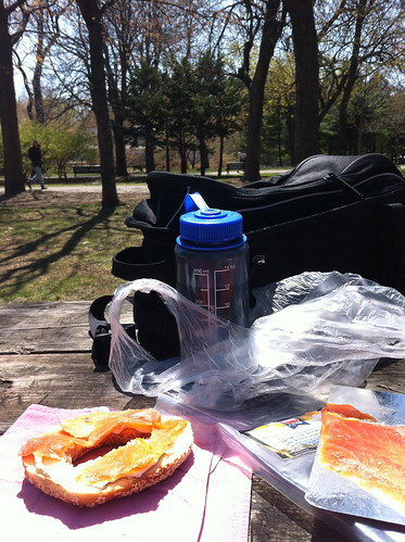 Lunch in  Lafontaine park