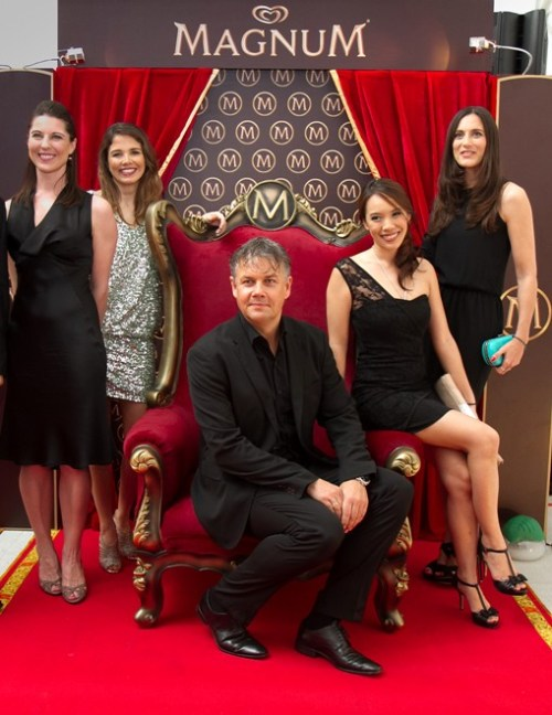Magnum Global Team: Standing from L: Jessica O'Donell, Sophie Galvani, Vanessa Caralps; Seated: Mick Van Ettinger, May Suenikom