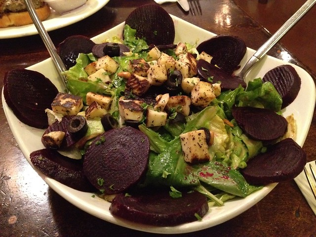Beet and halumi cheese salad - Cafe Mystique
