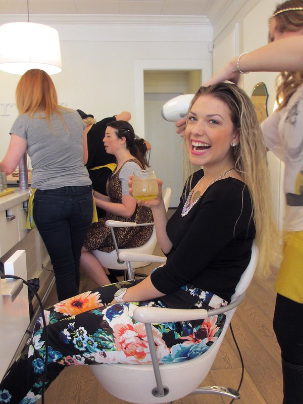 Lauren of L.A. in the Bay getting her hair done at Drybar