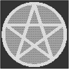 Round Pentagram Alter cloth