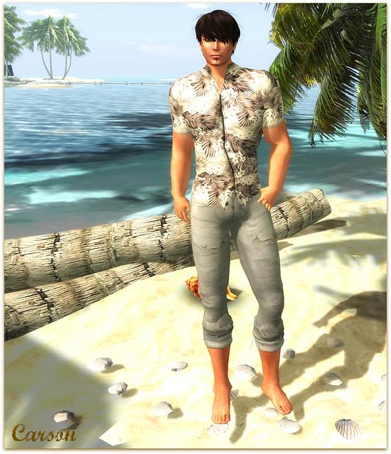 SHIKI-Aloha Shirt Vanilla Tropics