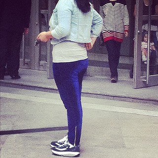 #shanghai #style - velour pants and butt removal shoes .