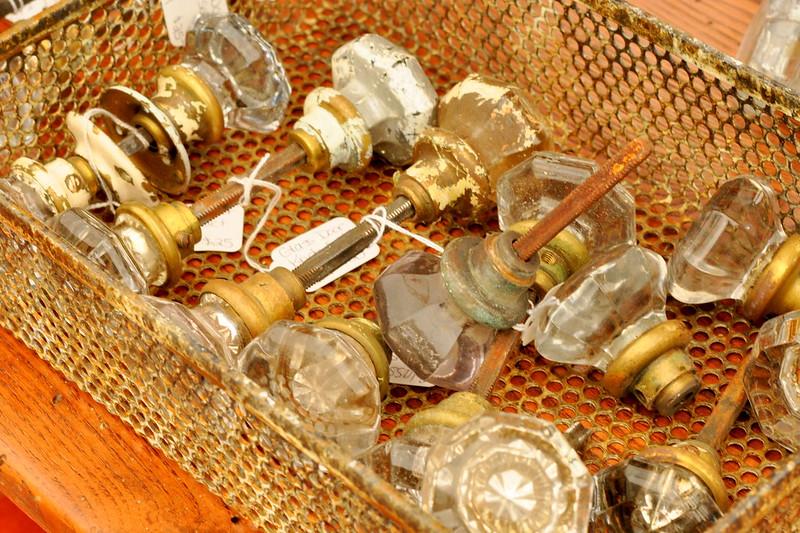 vintage crystal knobs