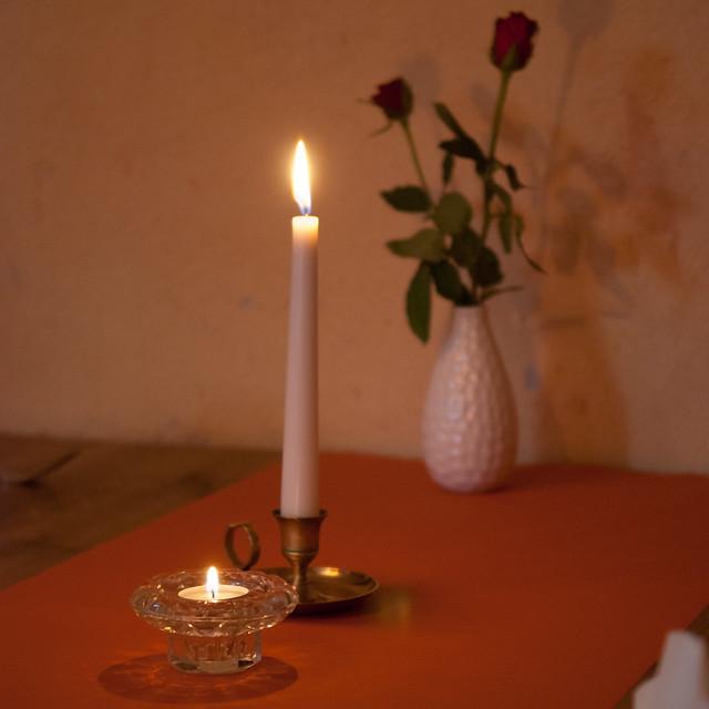 即使不見得有客人上門,每桌都還是會點上蠟燭,相當有氣氛