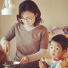ママのおじゃまむし#azukikun