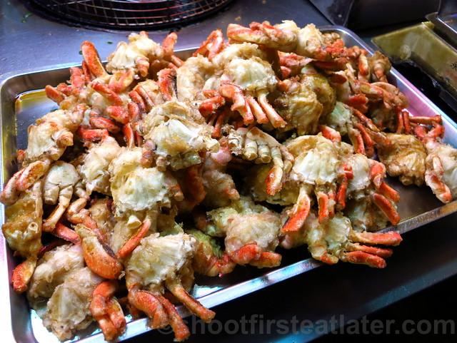 Raohe St. Night Market- crabs