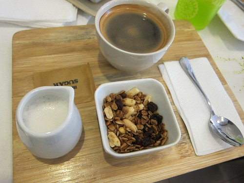 coffee with granola