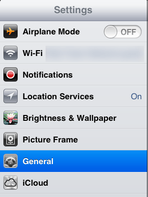 iOS Settings App