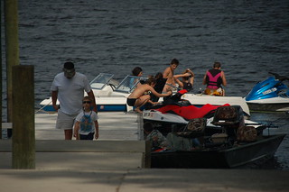Partiers at West Bank Landing