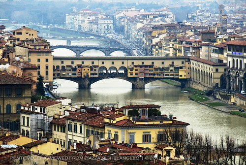 Ponte Vecchio, viewed from Piazzale Michelangelo