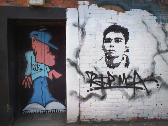 Grafitti at Cathays Community Centre