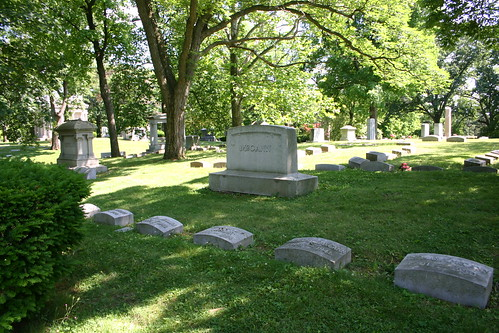 McCann family plot in Woodland Cemetery