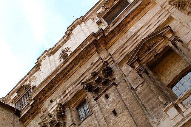Back entrance to St Peter's Basilica