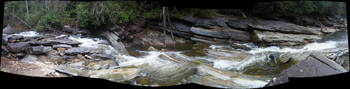 Thompson River Rapids Panorama