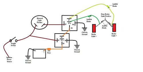 wig wag flasher relay wiring diagrams