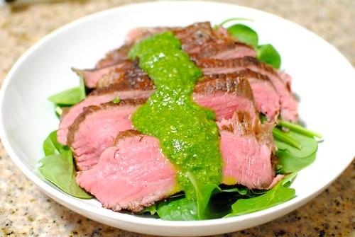 flank steak arugula chimichurri