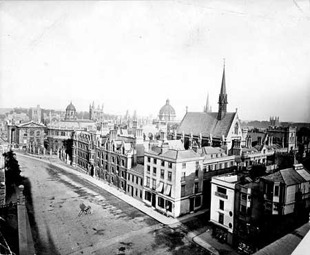 Broad street from balliol tower circa 1870-english-heritage org uk